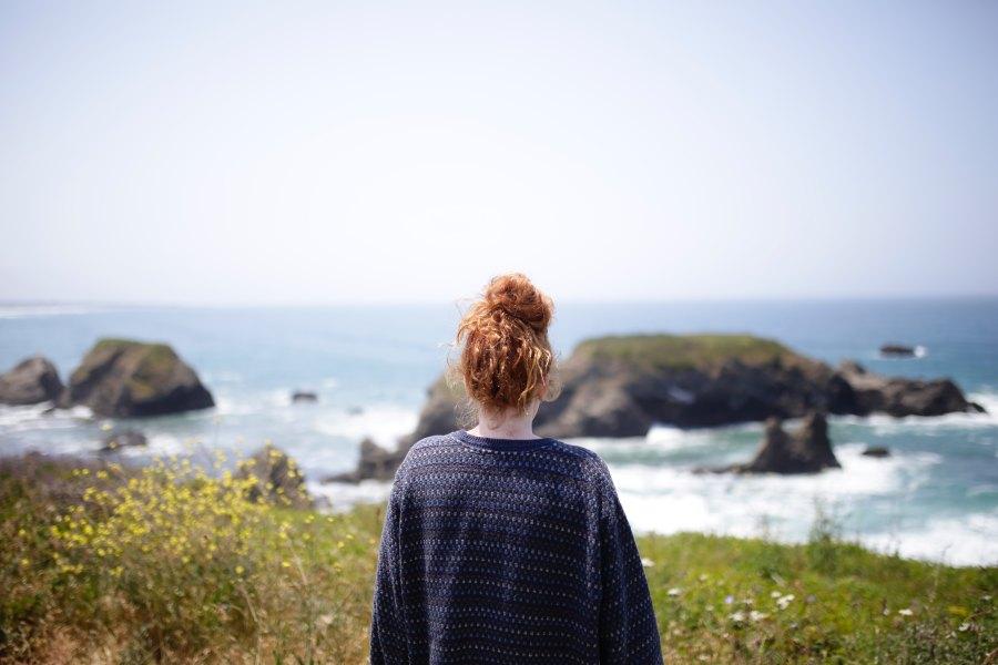 Girl on California Coast